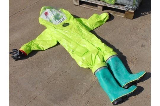 Lot 26806 - Q10 x Unissued Respirex Tychem TK Gas-Tight Hazmat Suit. Size XL
