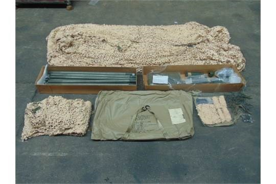Lotto 26414 - Unissued AFV Desert Vehicle Camouflage System complete with poles etc