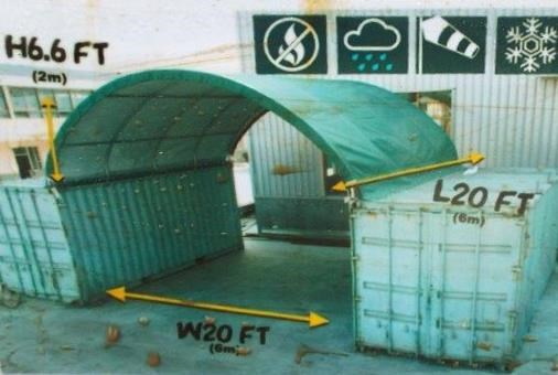 "Lot 26848 - Container Shelter 20'W x 20'L x 6'6"" H P/No C2020"