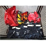 Mixed Stillage of Harnesses, Air Tank Bags etc