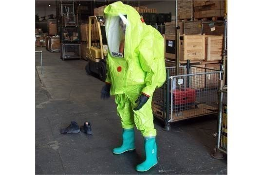 Lot 26803 - Q10 x Unissued Respirex Tychem TK Gas-Tight Hazmat Suit. Size Large
