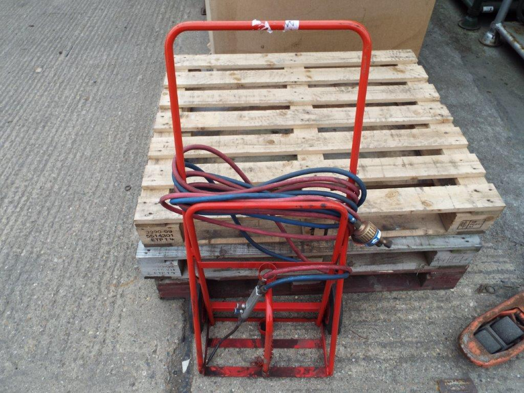 Oxy Acetylene Cutting Kit with Gas Bottle Trolley - Image 2 of 7