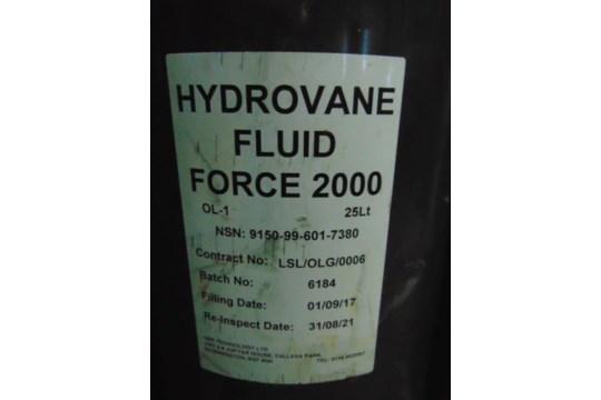 Lot 26605 - 10 x 25 Ltr Hydrovane Fluid Force 2000