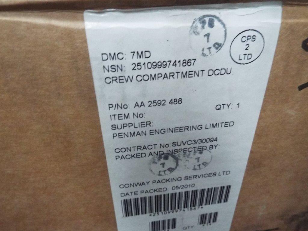 Lot 19170 - Mowag Duro Crew Compartment DCDU P/No AA 2592 488