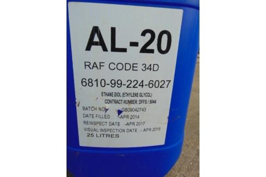 Lot 25862 - 4 x 25ltr AL20 Anti-Freeze