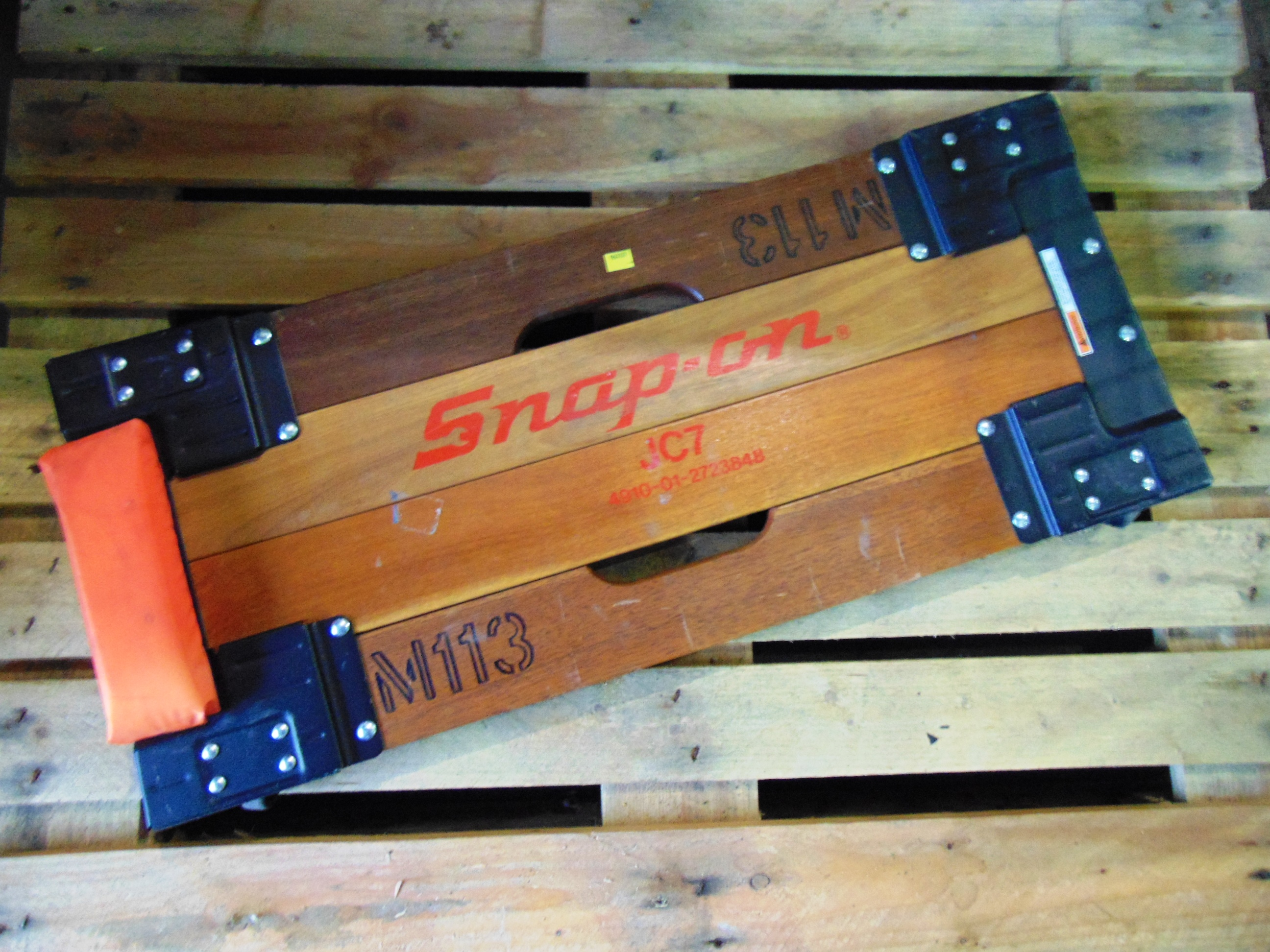 Lot 26833 - Vintage Snap On JC7 Creeper Board