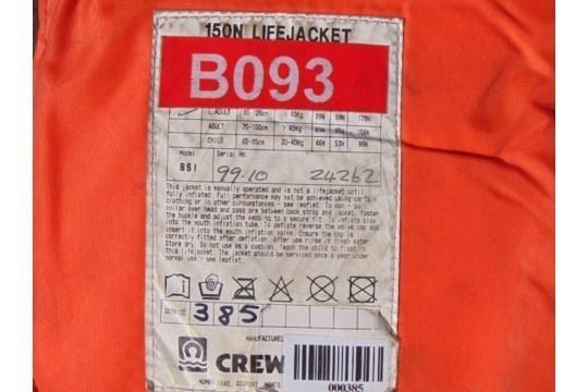 Lot 26797 - 4 x Crewsaver 150N Air Foam Lifejackets