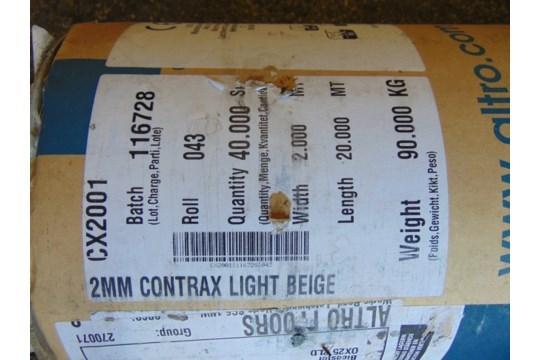 Lot 27236 - 1 x Unissued 40 Sq m roll of Altro Contrax - Light Beige CX2001 Anti Slip Safety Vinyl Flooring