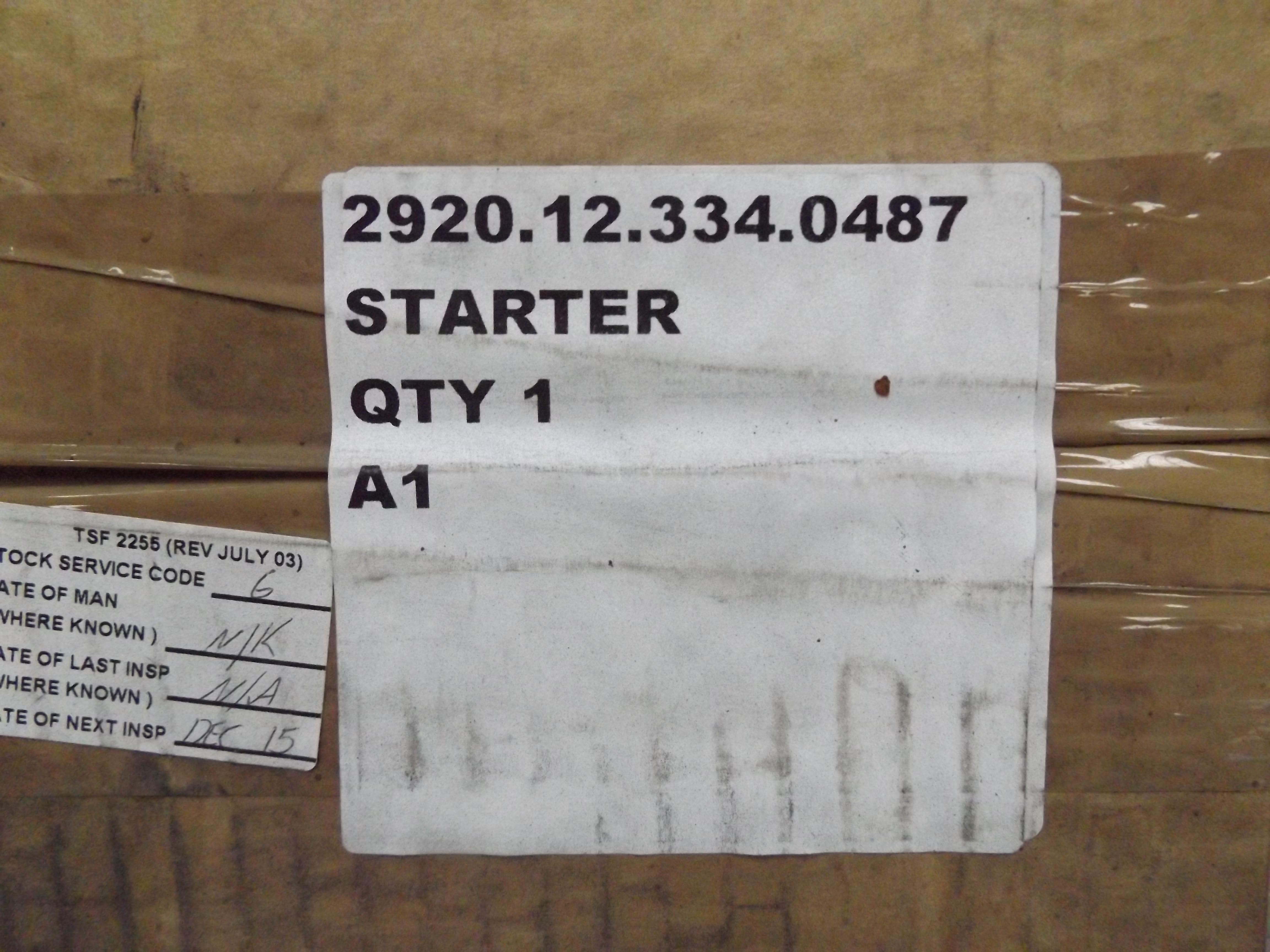 Lot 13604 - Land Rover 300 Tdi Starter Motor P/No ERR5009