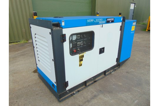 Lotto 26415 - UNISSUED 70 KVA 3 Phase Silent Diesel Generator Set