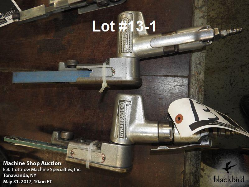 Lot 13 - Lot- Dynabrade #40320 Dynafile II air belt sander and D