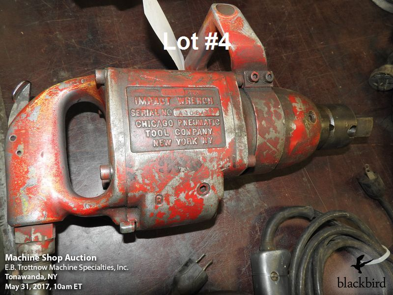 "Lot 4 - Chicago Pneumatic #611 1"" pneumatic impact wrench"
