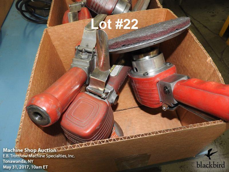 Lot 22 - Lot- (3) Central Pneumatic DA sanders
