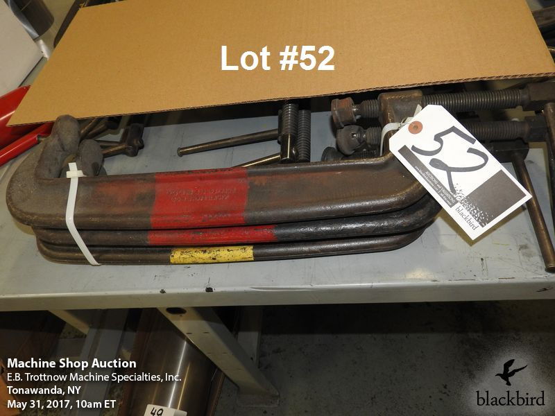 """Lot 52 - (3) Armstrong 15"""" """"C"""" clamps"""