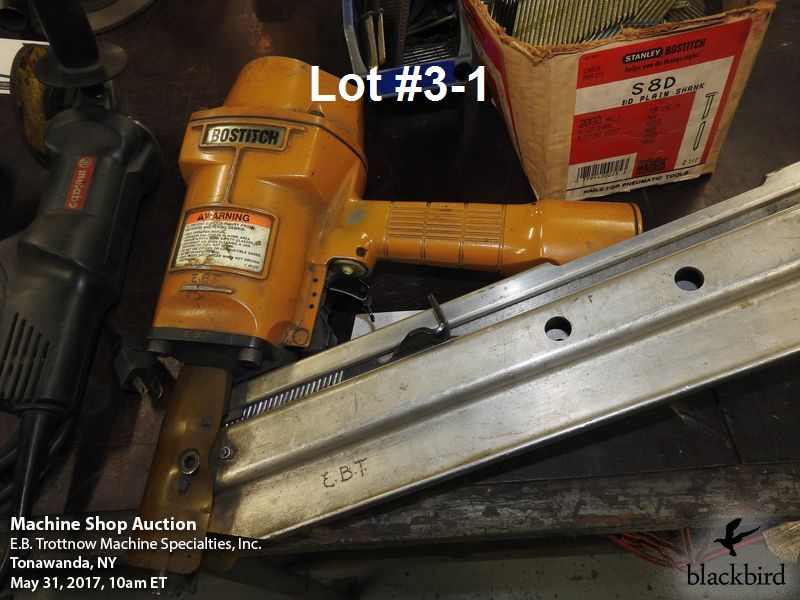 Lot 3 - Bostitch model N80 clipped head nailer