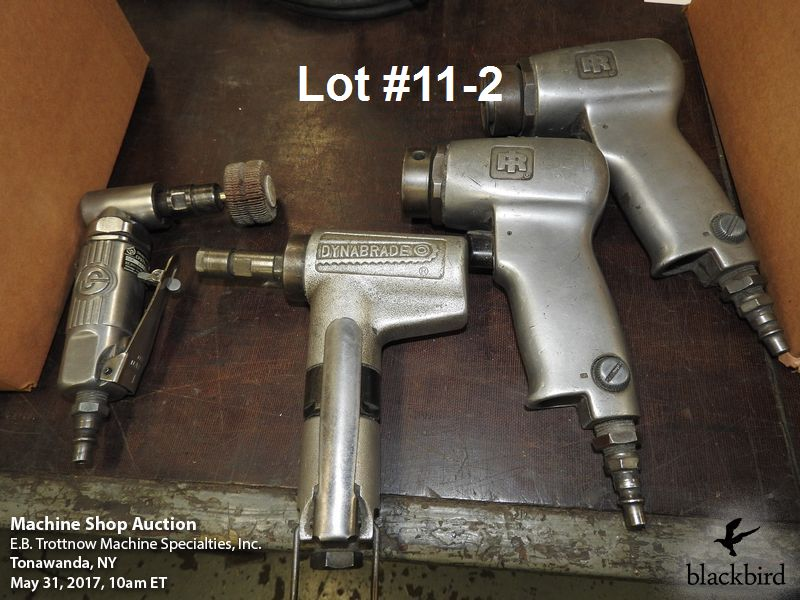 Lot 11 - Lot- (2) Ingersoll Rand #317 high speed air sanders, Dy