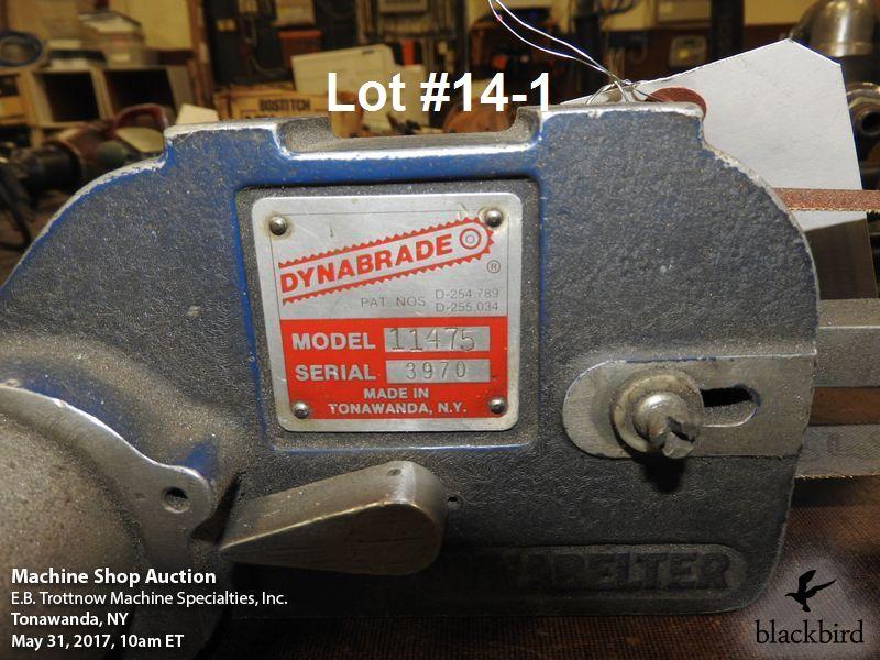 Lot 14 - Dynabrade #11475 air belt sander