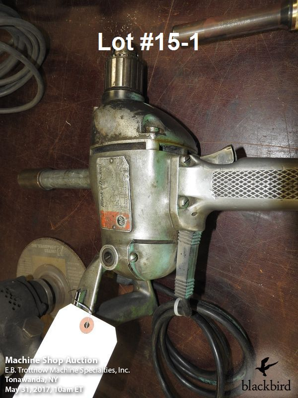 "Lot 15 - Lot- Black & Decker 1/2"" heavy duty corded drill and pn"