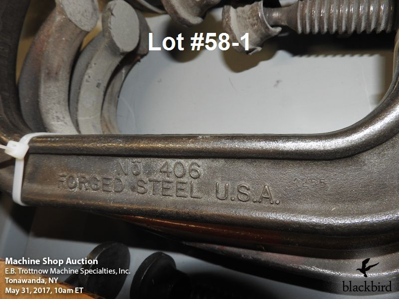 """Lot 58 - (4) Armstrong 6"""" """"C"""" clamps"""