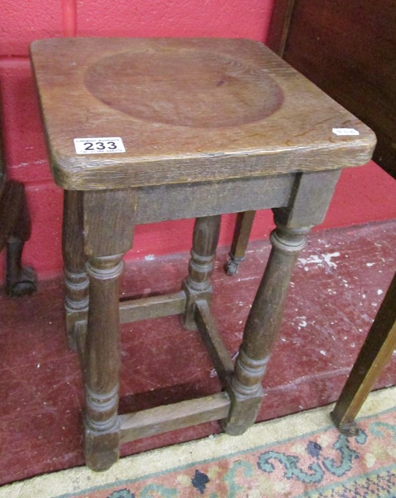 Lot 233 - Oak stool