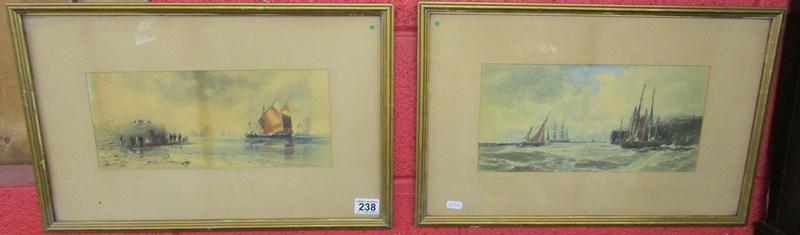 Lot 238 - 2 watercolours - Sailing theme
