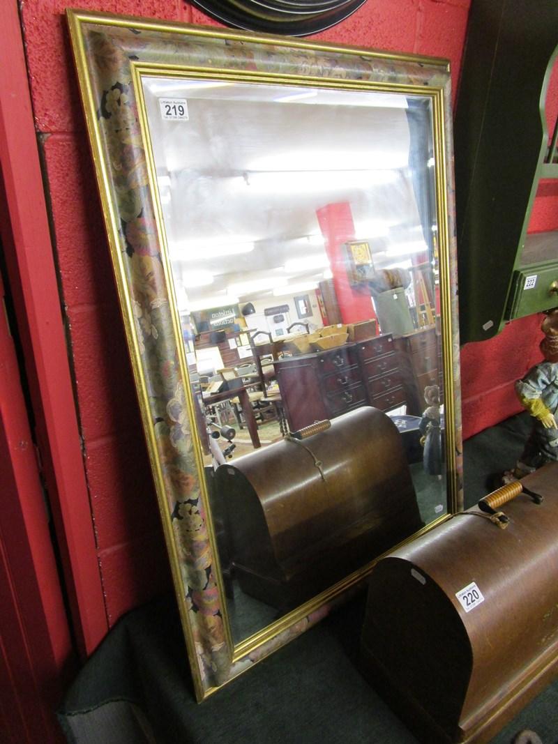 Lot 219 - Bevelled mirror