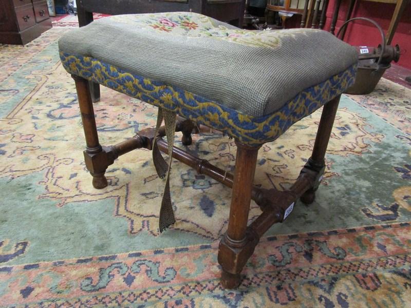 Lot 286 - Antique upholstered stool