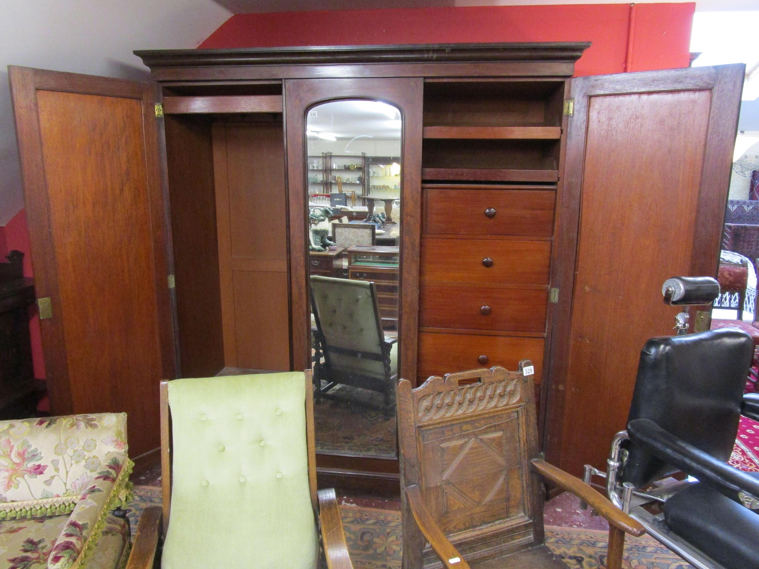 Lot 336 - Victorian mahogany compactum