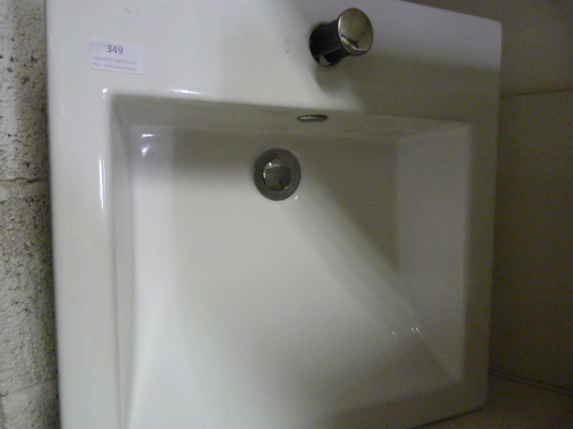 Lot 349 - *Medium White Rectangular Sink with Tap Hole
