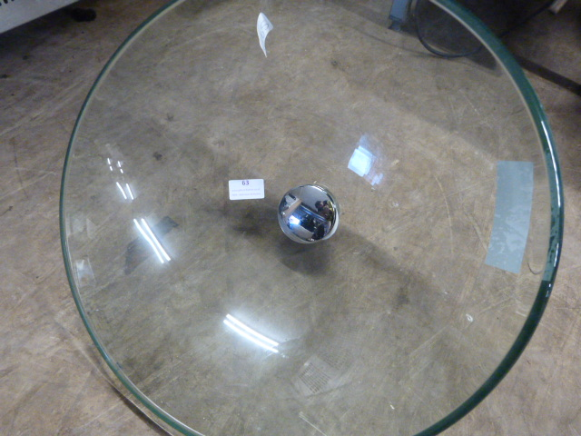 Lot 63 - *Round Clear Glass Sink