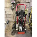 10-TON PORTABLE HYDRAULIC PULLER W/ (1) POWERTEAM 1/2 HP HYDRAULIC POWER UNIT, & (2) GEAR PULLERS W/