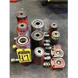 (X11) ASSORTED ENERPAC & POWERTEAM HYDRAULIC RAMS, 5-TON TO 22-TON RANGE