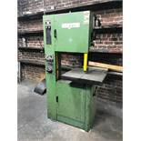 FUHO VERTICAL BANDSAW, MODEL VBS20, S/N 200131, 20'' THROAT, 149'' BLADE, 23.5'' X 22'' TABLE, BLADE