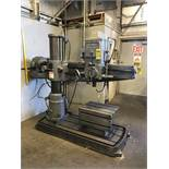CINCINNATI BICKFORD RADIAL ARM DRILL, MODEL 9X48, 9'' COLUMN, 48'' ARM, 125-2500 SPINDLE RPM, 3