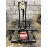 INDUSTRIAL ENGINEERING 20-TON PORTABLE HYDRAULIC PULLER, S/N 523 W/ GB ELECTRIC 1/2 HP HYDRAULIC