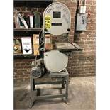 ROCKWELL VERTICAL BANDSAW, MODEL 14, S/N L09122, 14'' THROAT, 1-1/2 HP, 115/230V