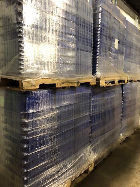 Trelleborg Rubore plastic storage totes. Containing 2 different sizes. (See pics).