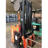 Raymond stand up electric order picker forklift