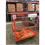 Like new BallyMore 1000 lb cap safety cage. On casters, swing gate
