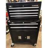 Like New Husky 6 drawer tool box on casters. 2 pieces