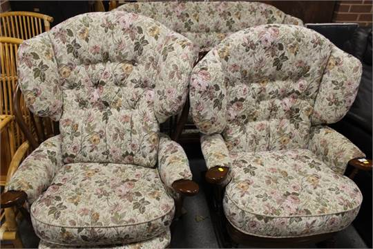 Enjoyable A Joynson Holland Cottage Style Three Piece Suite To Inc A Onthecornerstone Fun Painted Chair Ideas Images Onthecornerstoneorg