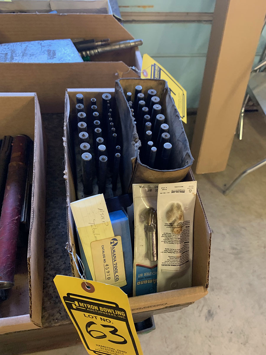 LOT OF NUMBER STAMPS & CENTER PUNCHES