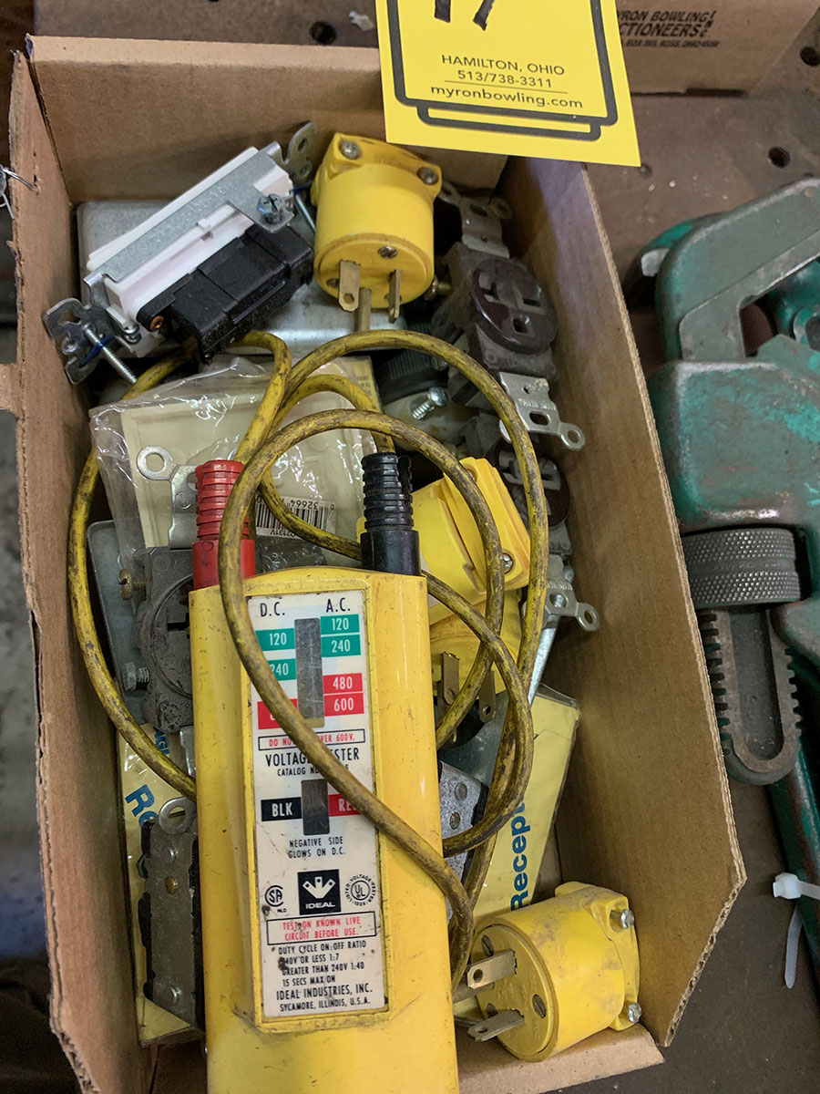 LOT OF ASSORTED ELECTRICAL PARTS