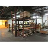 (2) SECTIONS OF TEARDROP TYPE 10 PALLET RACKING; (4) 10' UPRIGHTS, (10) 5'' X 120'' HORIZONTAL