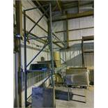 (5) SECTIONS OF TEARDROP PALLET RACKING; (5) 11' UPRIGHTS, (2) 8' UPRIGHTS, (14) 4'' X 108''