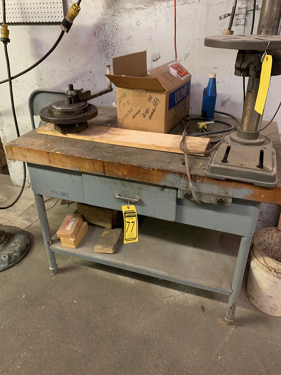 WORKBENCH WITH DAHLRO TUBE BENDER