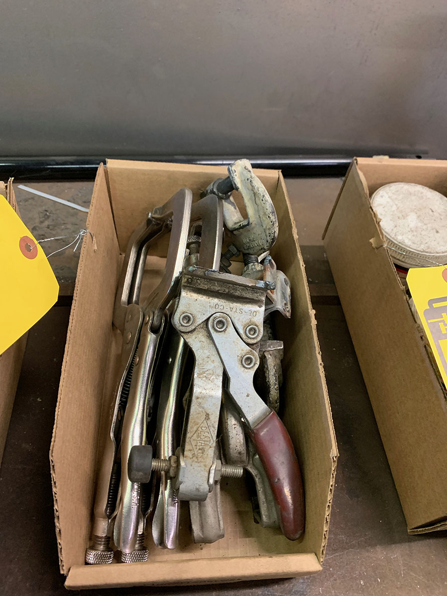LOT OF ASSORTED WELDING CLAMPS & (8) C-CLAMPS