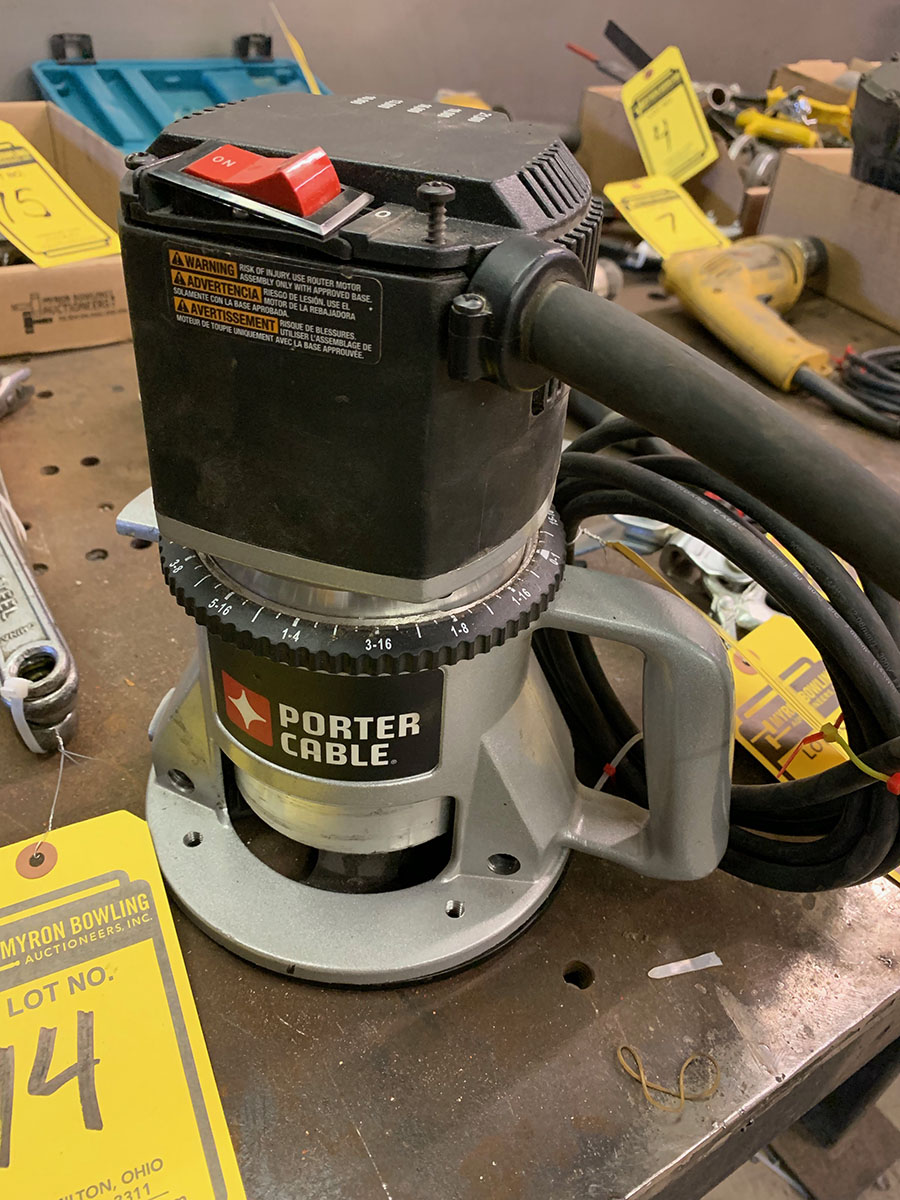 PORTER CABLE ROUTER; 10,000 - 21,000 RPM