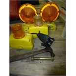 Safety lights, hammer, misc. tools