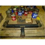 Pallet with hitch, misc. nuts and bolts